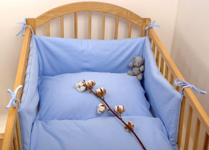 Sada povleèení bio bavlna 90x130 cm modrý lem