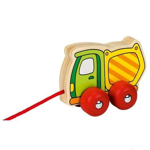 Døevìná tahací hraèka nákladní autíèko vyklápìè