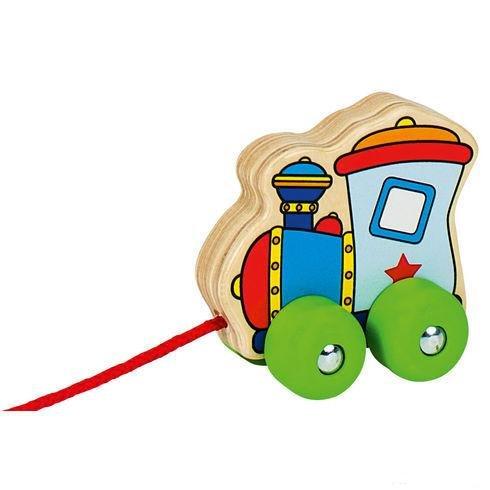 Døevìná tahací hraèka mašinka