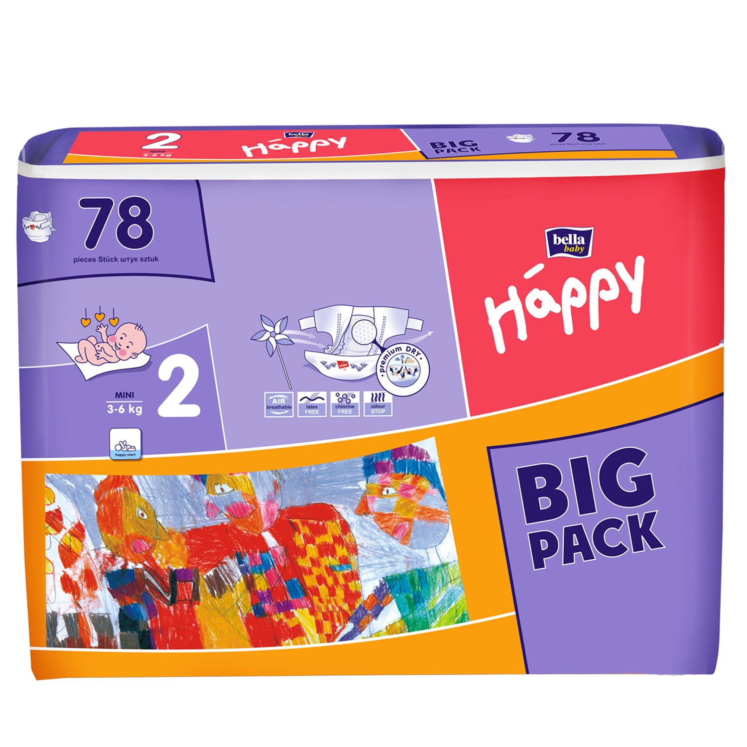 Bella Happy Mini 3-6 kg BIG PACK 78ks