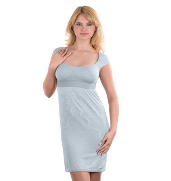 Noèní košile pro kojící maminky svìtle šedá XL
