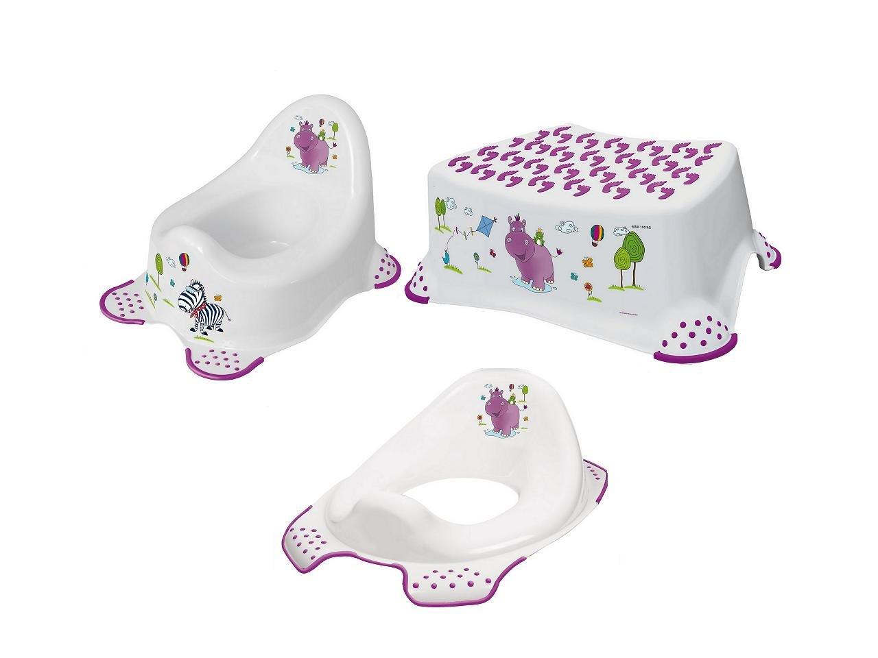 Hygienický set  Hippo noèník bez melodie + stolièka + redukce  bílá