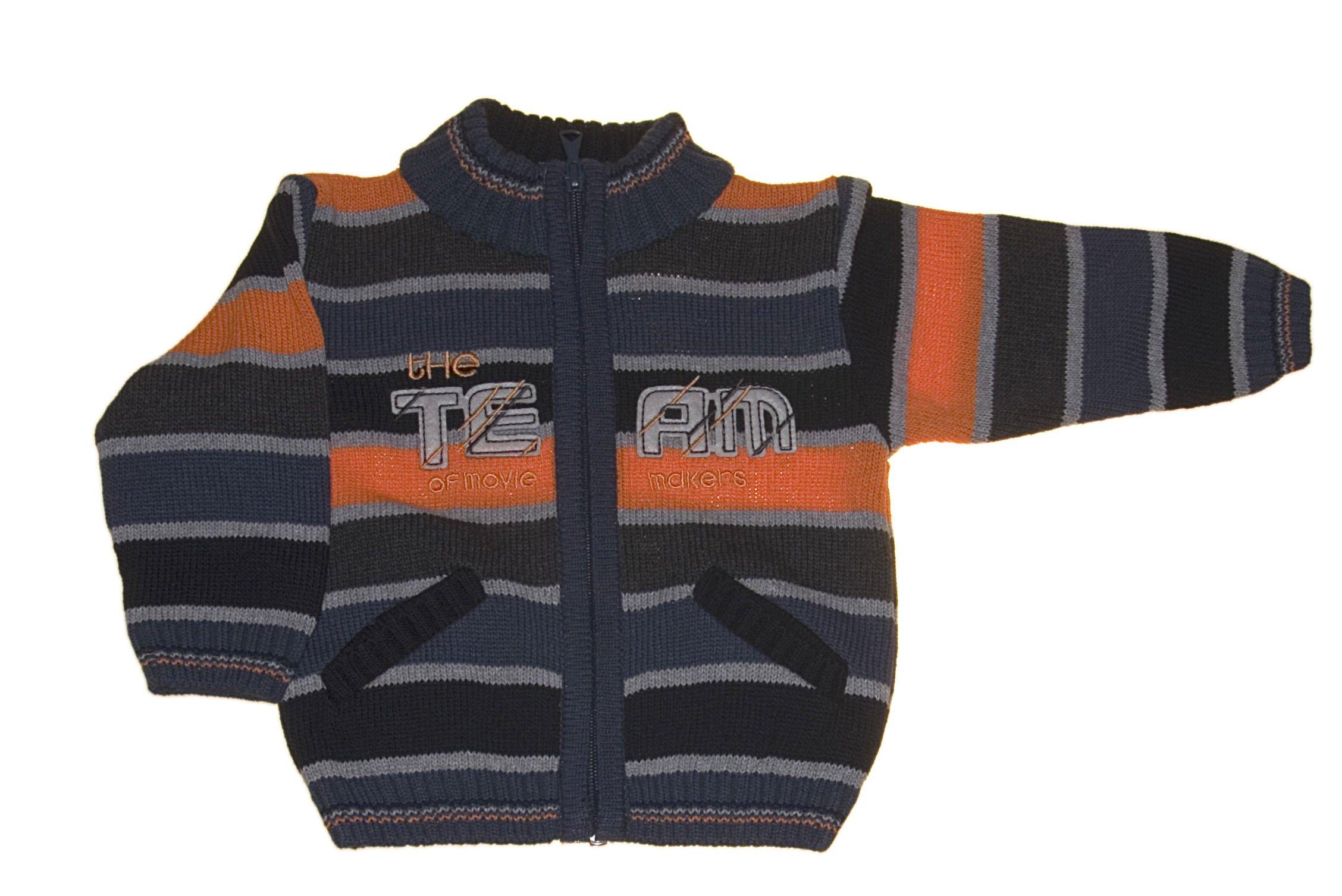 Chlapecký pletený svetr oranžový NM-383