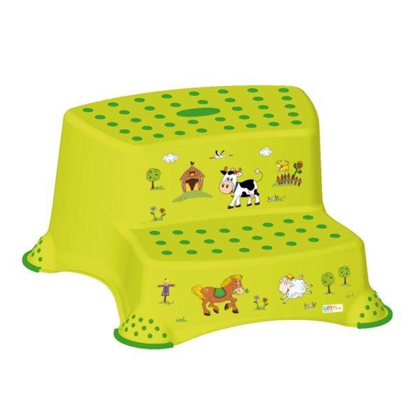 Protiskluzový stupínek stolièka dvoustupòová Farma zelená