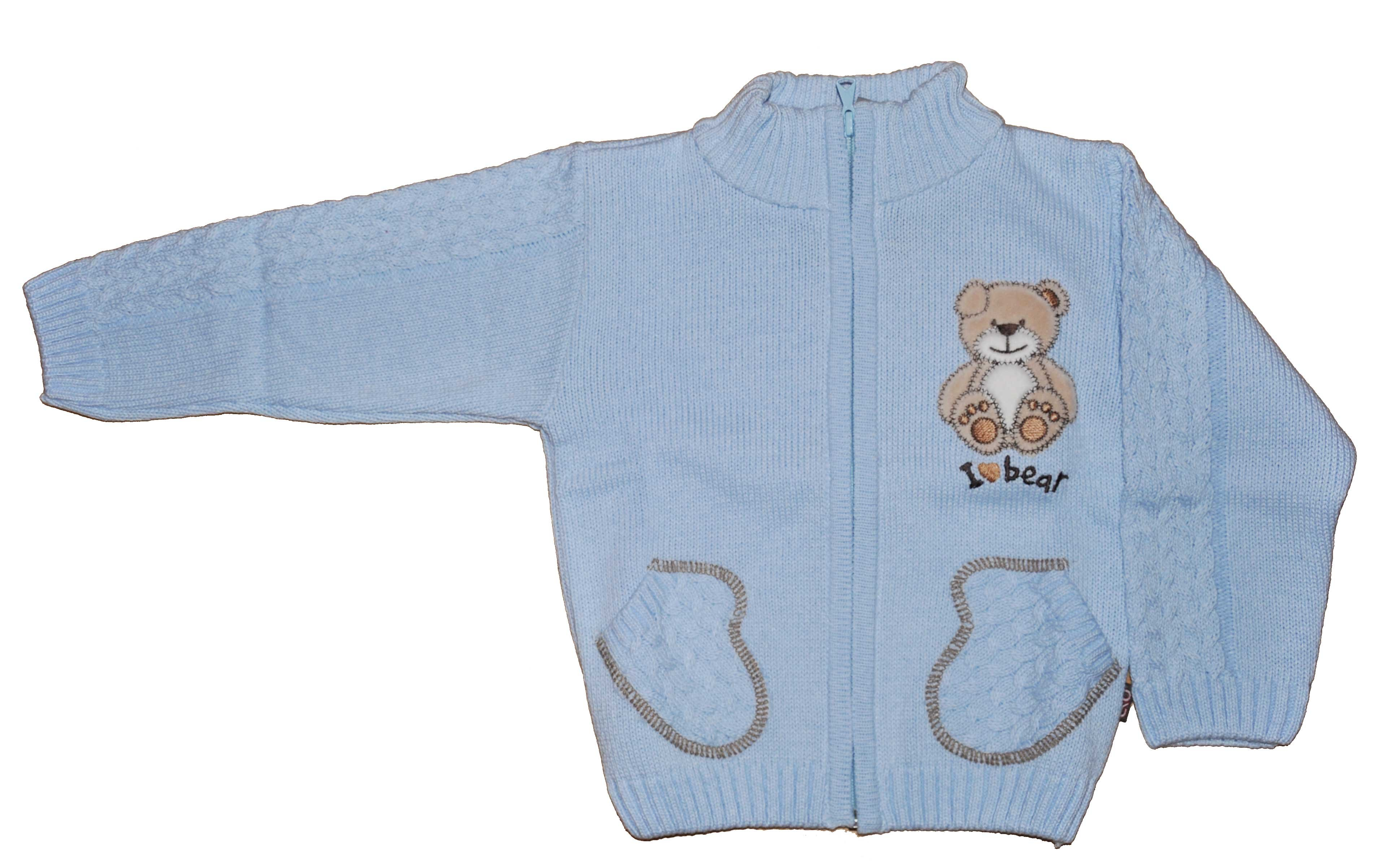 Chlapecký pletený svetr modrý NM-395