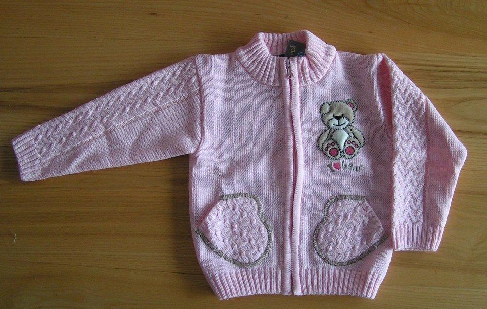 Dívèí pletený svetr rùžový NM-395