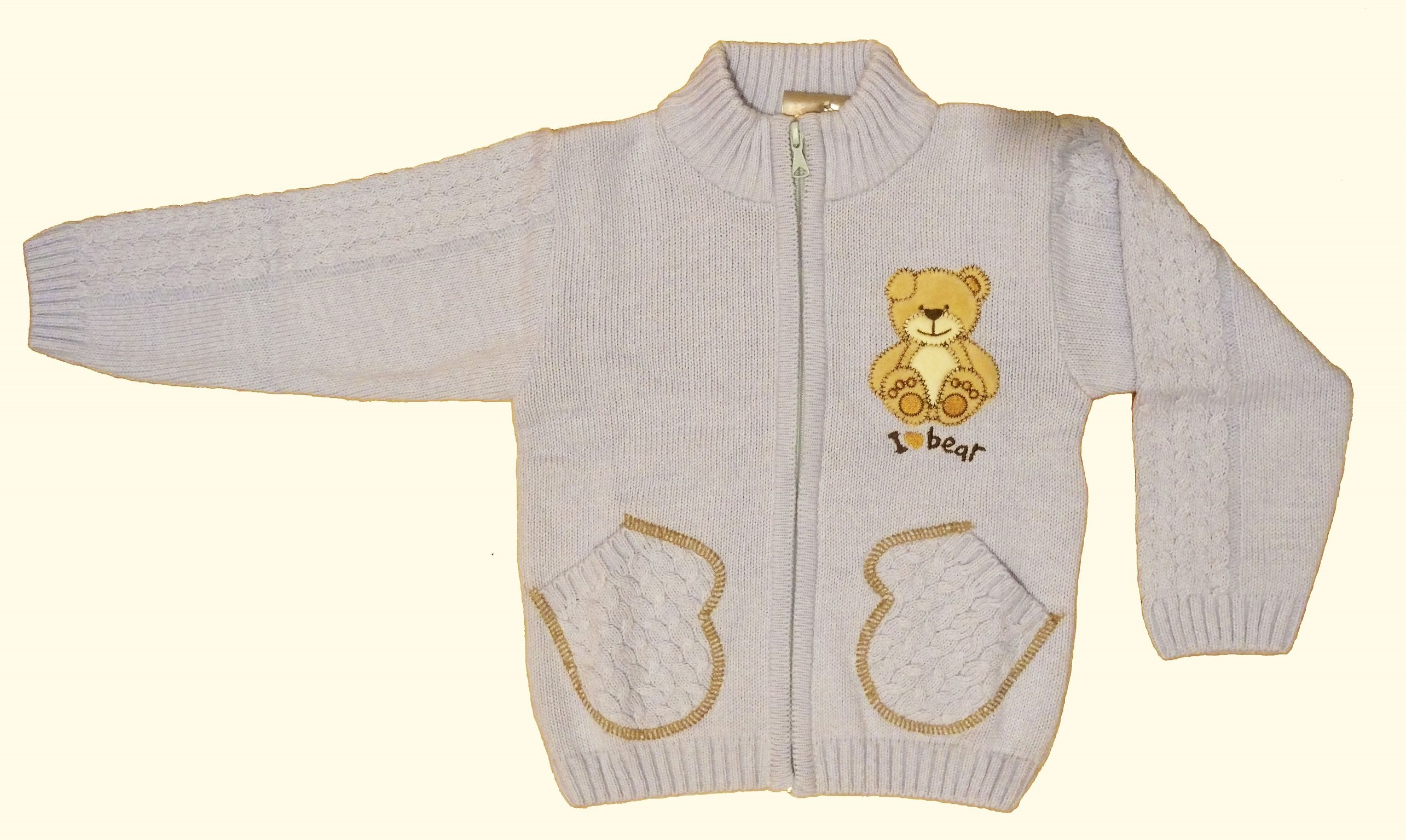 Pletený svetr ecru NM-395