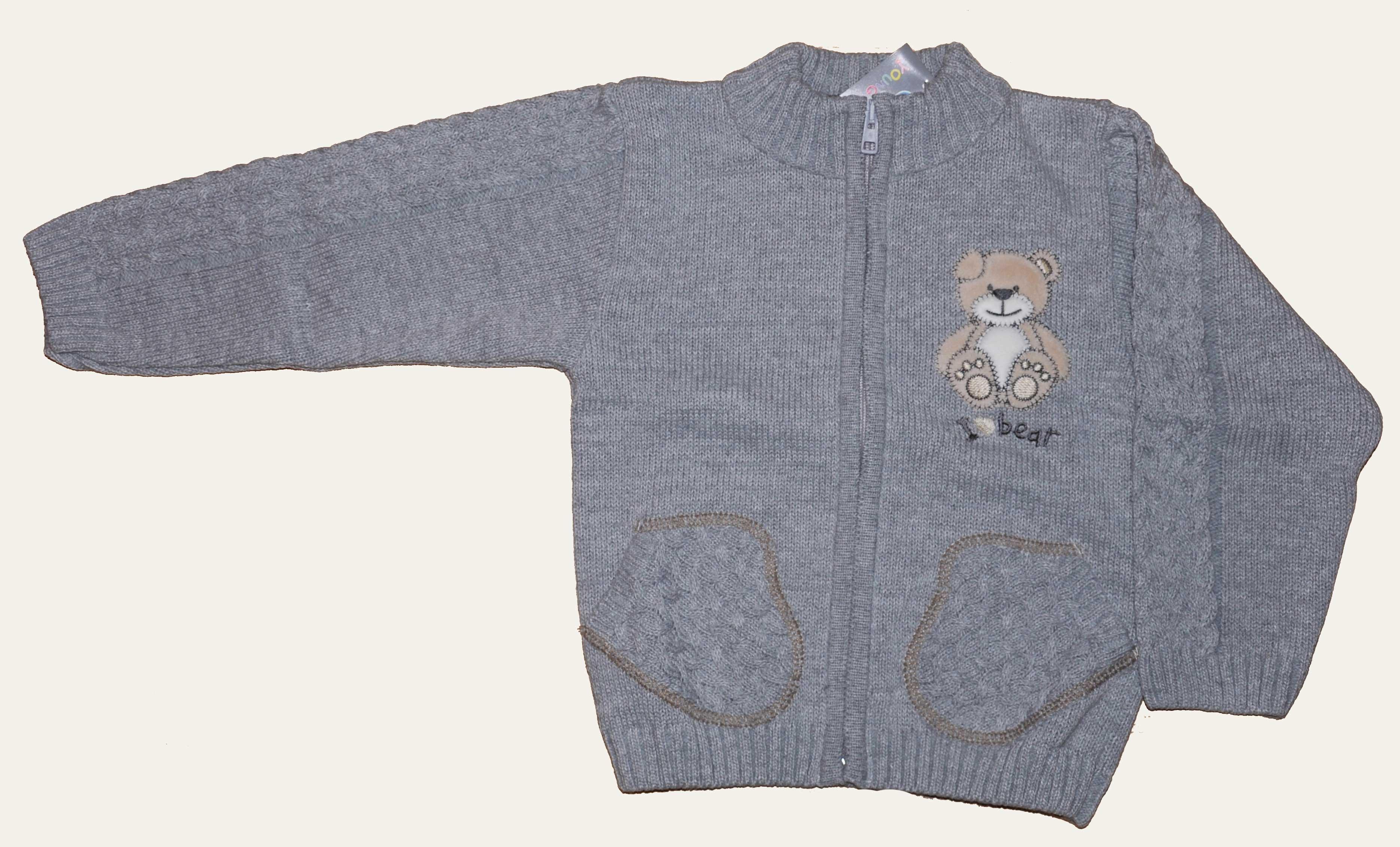 Pletený svetr šedý NM-395
