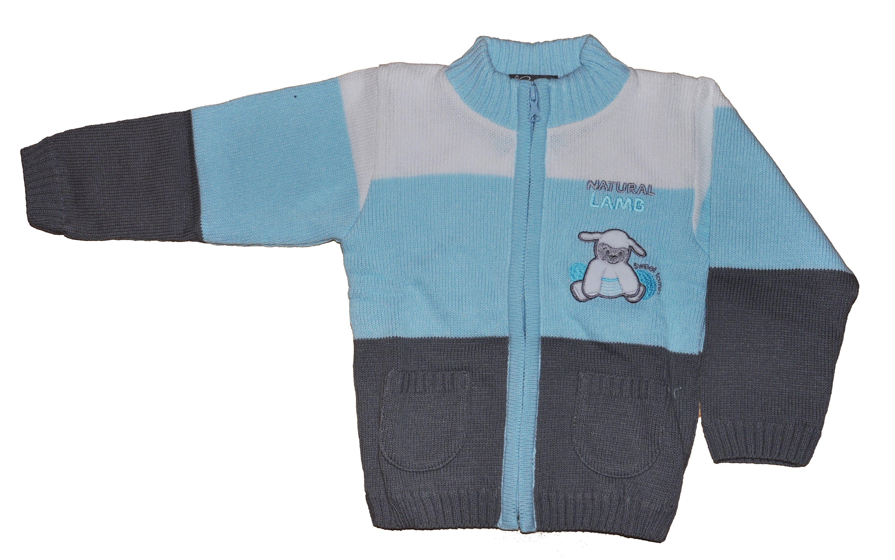 Chlapecký pletený svetr tyrkysový NM-397