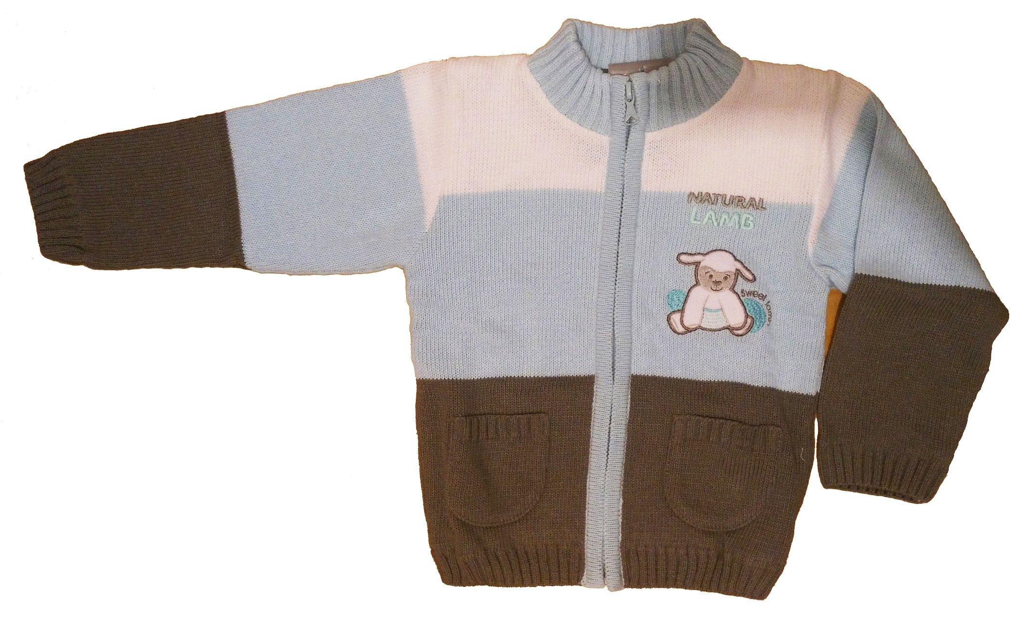 Chlapecký pletený svetr modrý NM-397