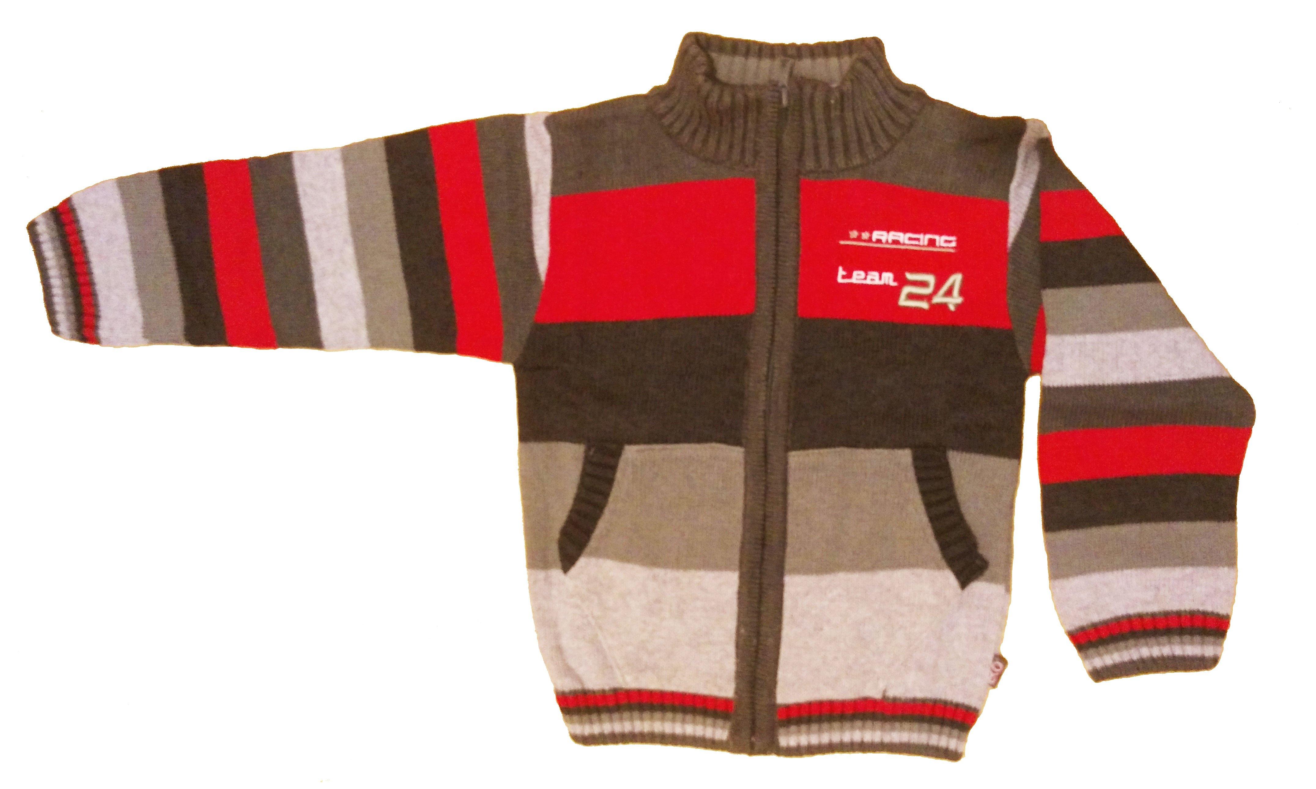 Chlapecký pletený svetr èervený CH-287