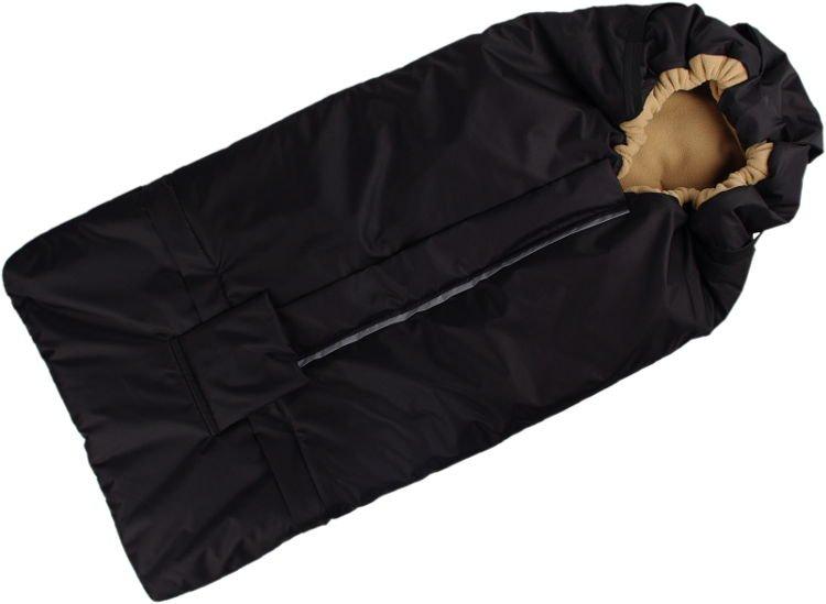 Fusak èerno-béžový s fleece podšívkou - zvìtšit obrázek