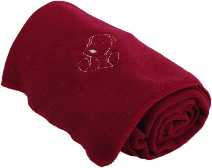 Dìtská flísová deka s pejskem vínová - zvìtšit obrázek
