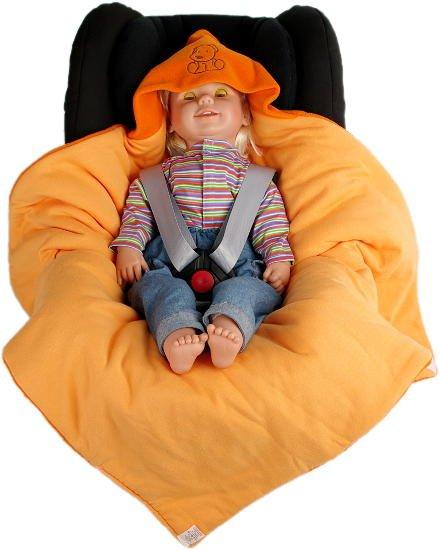 Zimní zavinovaèka oranžová pejsek doprodej - zvìtšit obrázek