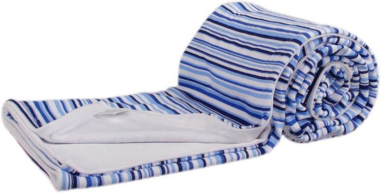 Oboustranná bambusová deka modré proužky - zvìtšit obrázek