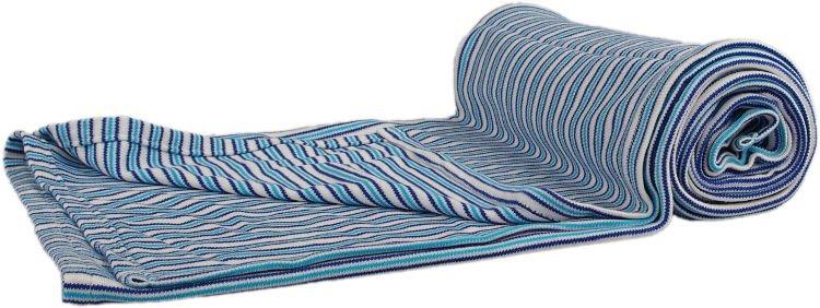 Bambusová deka modré proužky oboulíc - zvìtšit obrázek