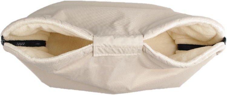 Béžový rukávník s beránkem z biobavlny - zvìtšit obrázek