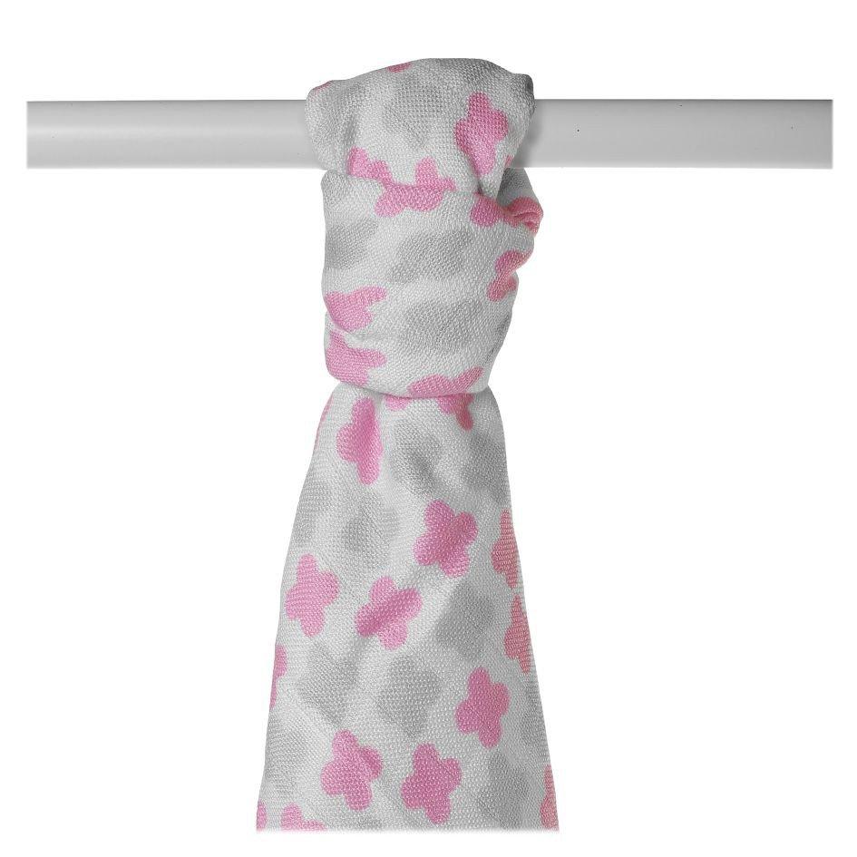 Bambusová osuška 90x100cm Scandinavian Baby Pink Cross - zvìtšit obrázek
