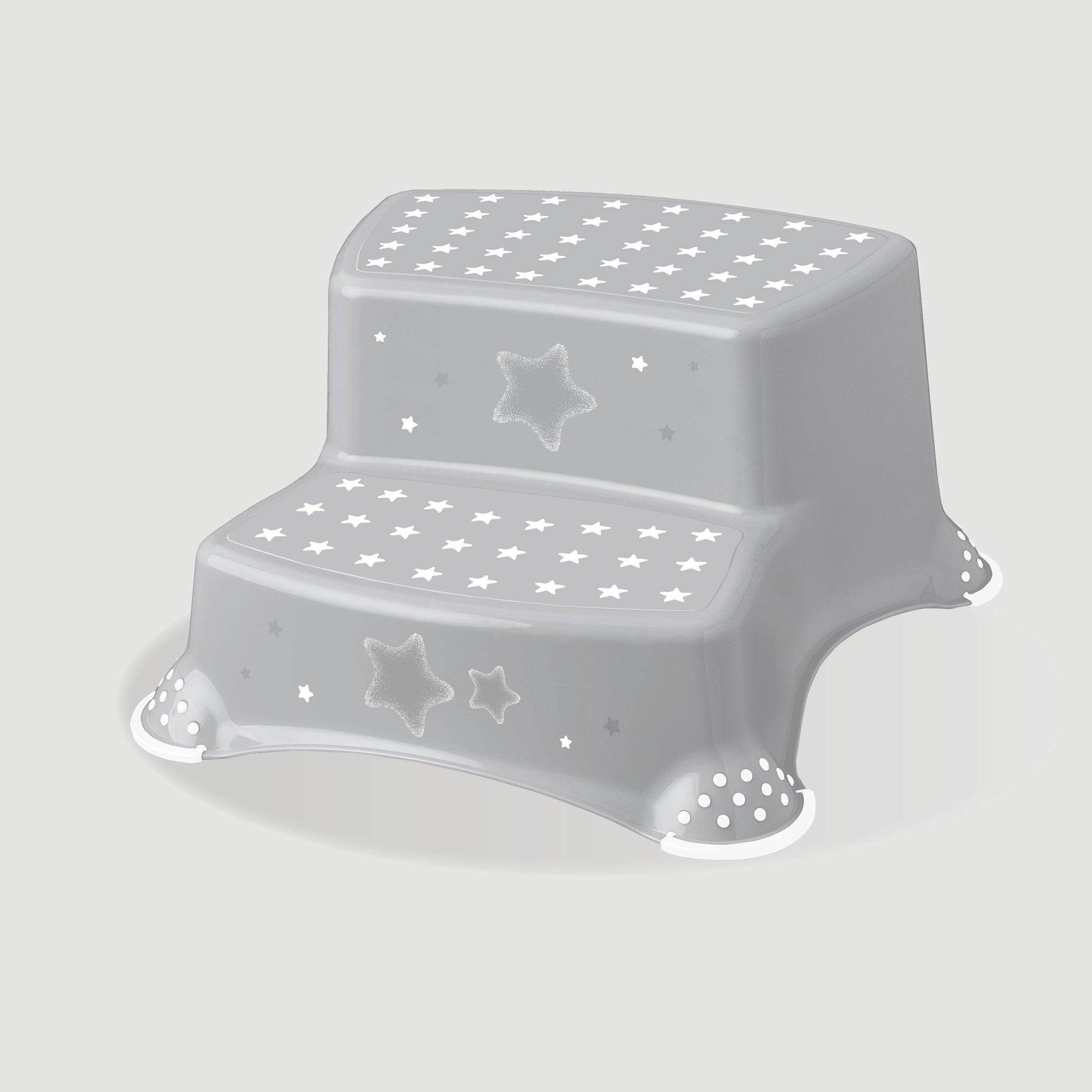 Protiskluzový stupínek stolièka dvoustupòová stars šedá - zvìtšit obrázek