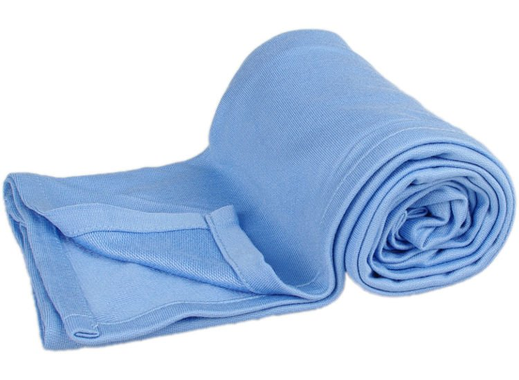 Letní bambusová deka do koèárku modrá - zvìtšit obrázek
