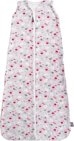 Letní spací pytel šedý rybièky 130 cm bambus - zvìtšit obrázek