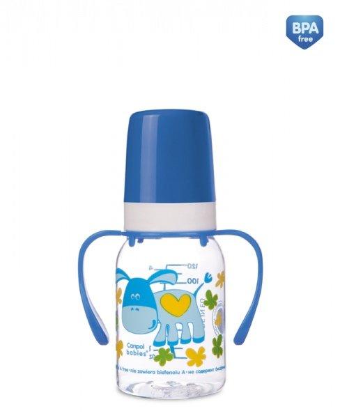 Láhev s potiskem CUTE ANIMALS 120 ml s úchyty BPA 0% - zvìtšit obrázek