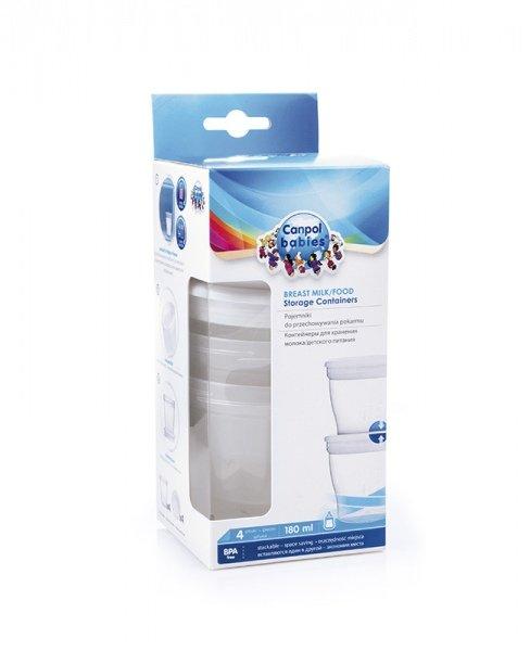 Zásobníky na mléko nebo pokm s víèkem 180 ml 4 ks - zvìtšit obrázek