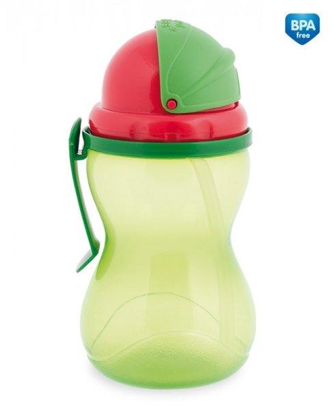 Sportovní láhev se slámkou a víèkem 370 ml zelená - zvìtšit obrázek