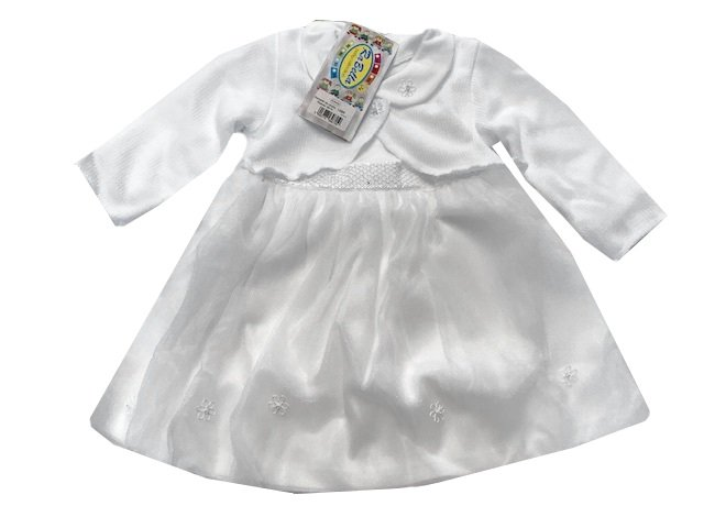 Kojenecký komplet na køtiny LUIZA bílá - zvìtšit obrázek