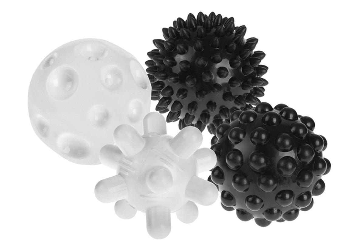 Míèky senzorické èerno-bílé 4ks - zvìtšit obrázek