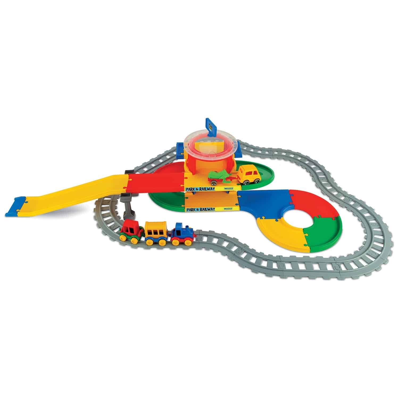Garáž play trucks železnièní stanice 2 patra - zvìtšit obrázek