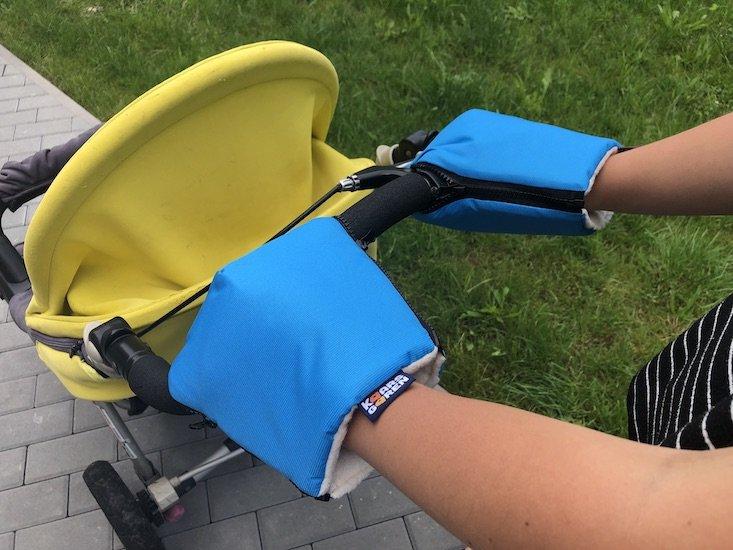 Tyrkysové rukavice na koèárek biobavlna - zvìtšit obrázek
