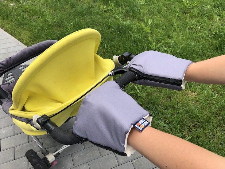 Šedé rukavice na koèárek biobavlna - zvìtšit obrázek