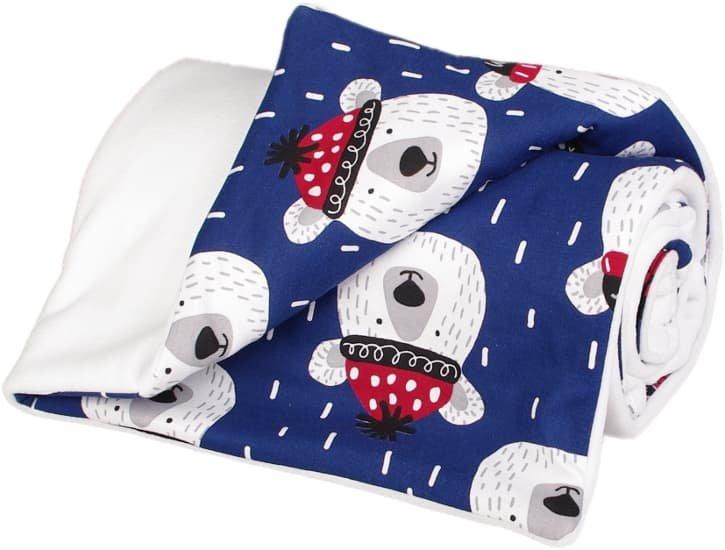 Zateplená dìtská deka bílá medvìdi - zvìtšit obrázek