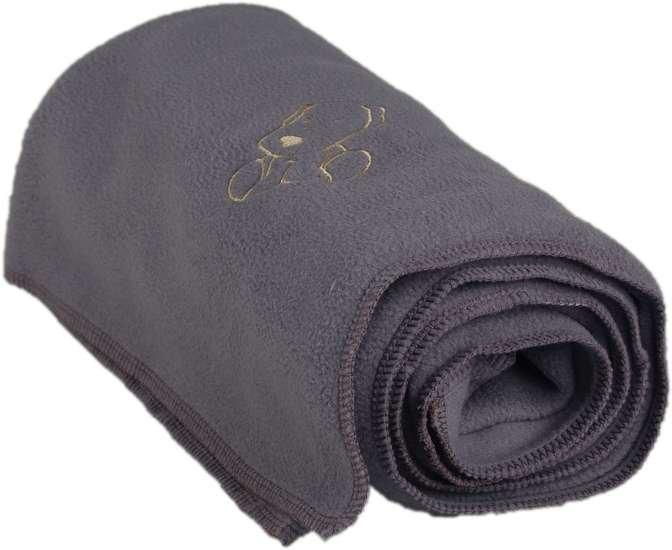 Dìtská flísová deka s pejskem šedá - zvìtšit obrázek