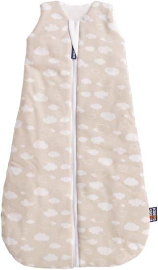 Letní spací pytel 60 cm bambus béžový s obláèky - zvìtšit obrázek