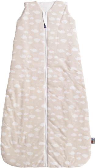 Letní spací pytel 90 cm bambus béžový s obláèky - zvìtšit obrázek