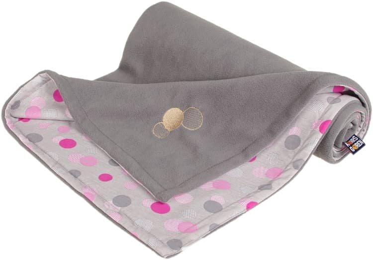 Dìtská deka šedá s puntíky fleece bavlna - zvìtšit obrázek