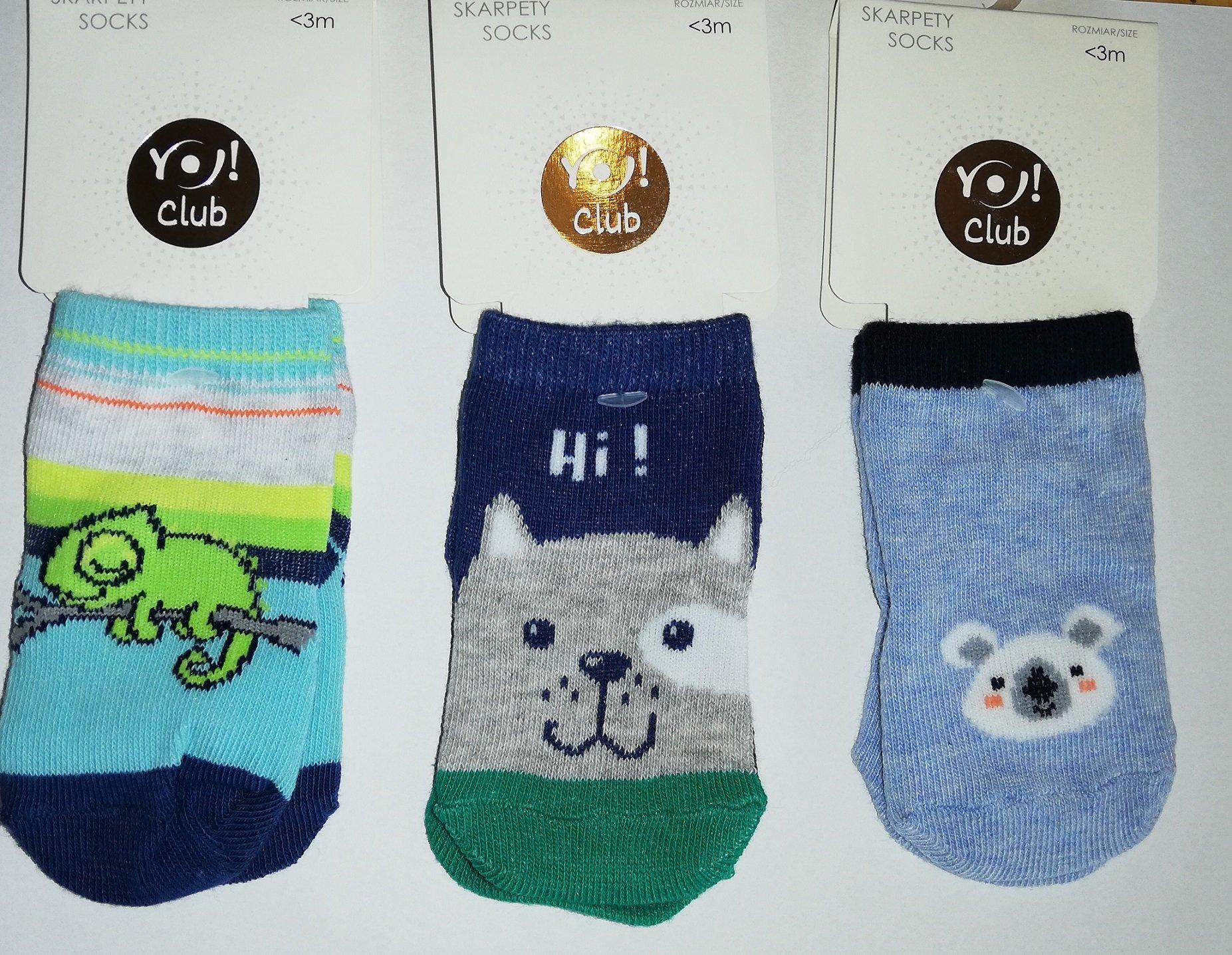Ponožky kojenecké vzorované 0-3 m chlapec - zvìtšit obrázek