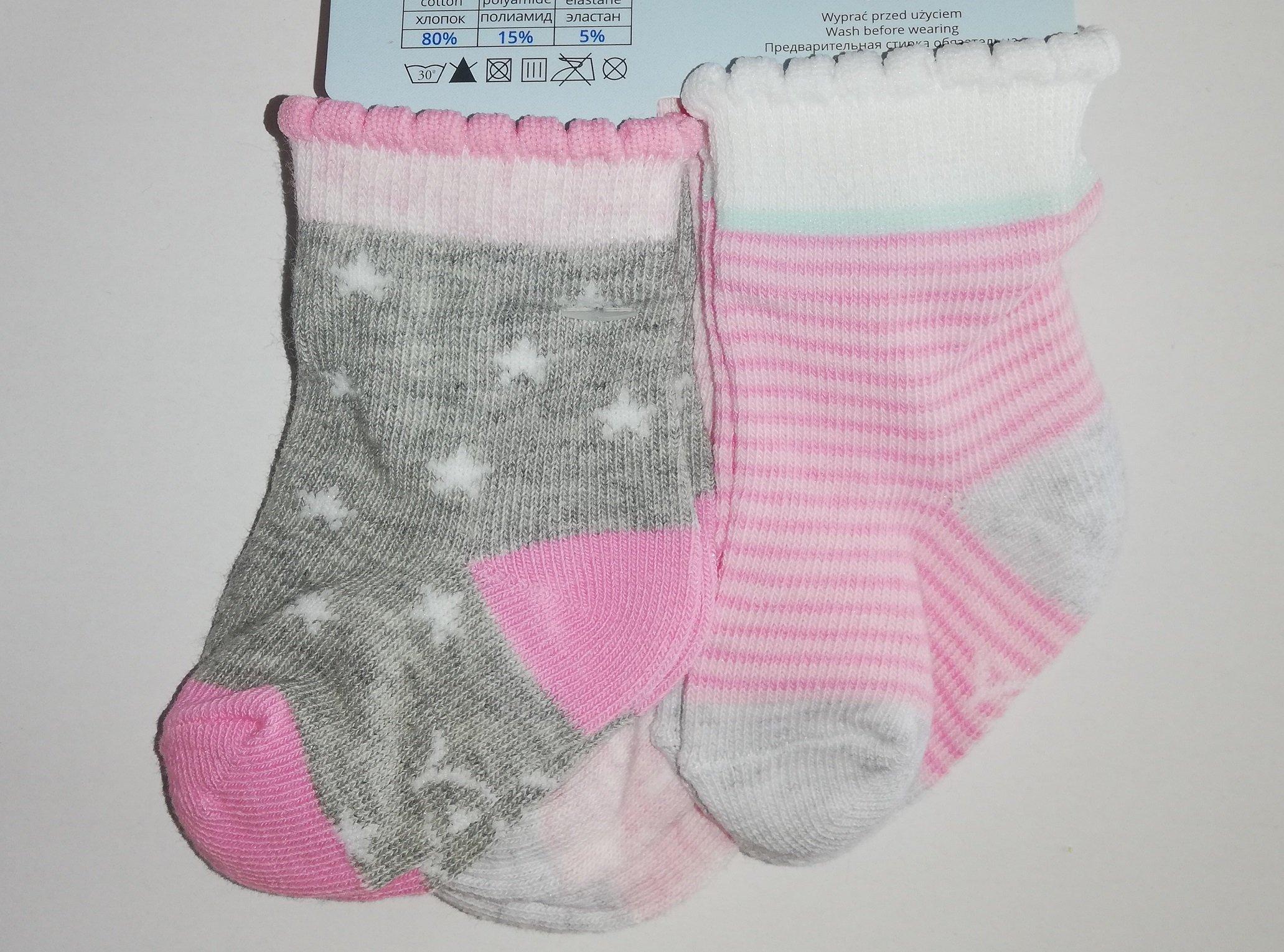 Ponožky kojenecké 3 páry v balení 3-6m barevné holka - zvìtšit obrázek