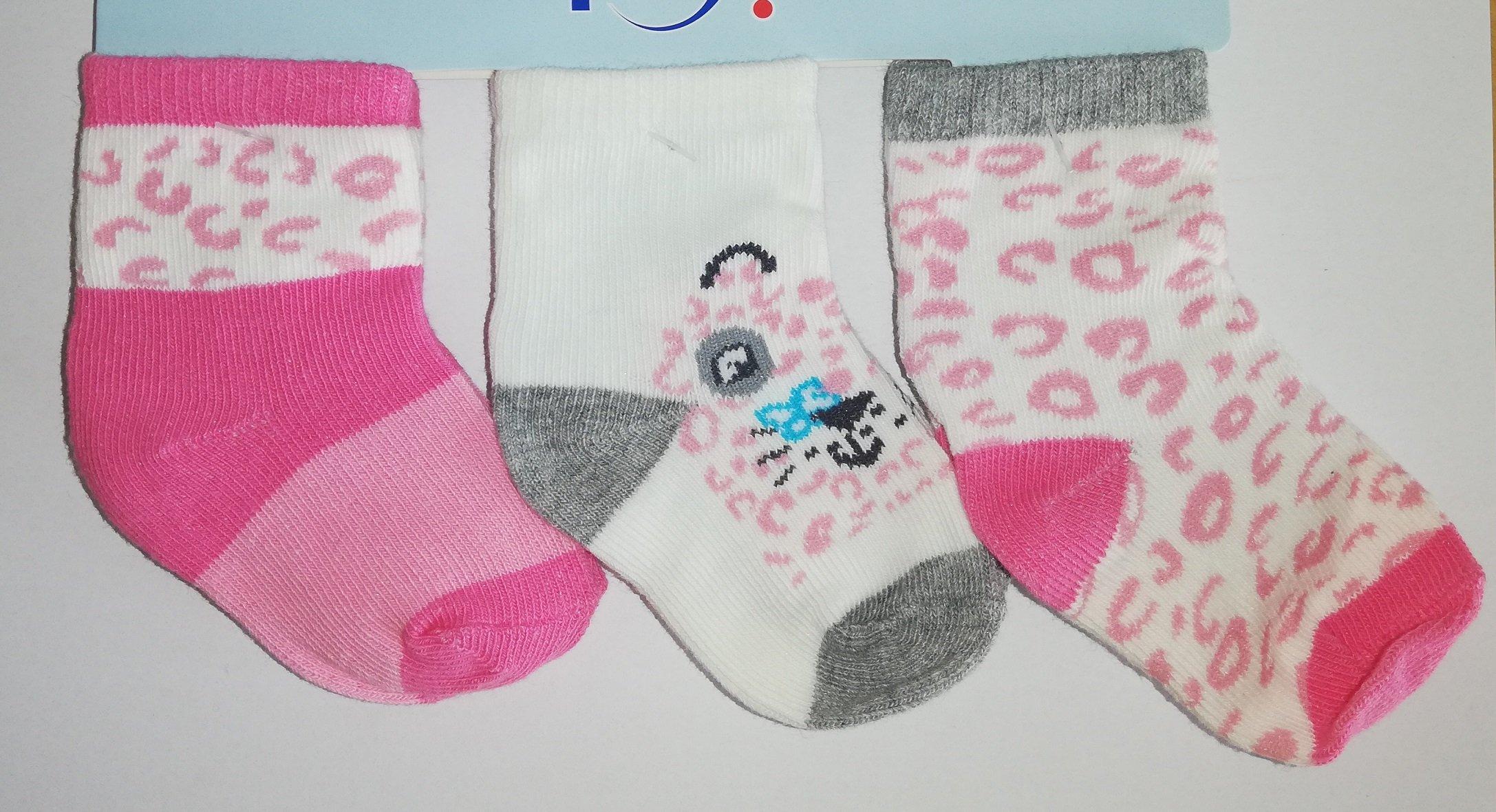 Ponožky kojenecké 3 páry v balení 6-9m barevné holka pejsek - zvìtšit obrázek