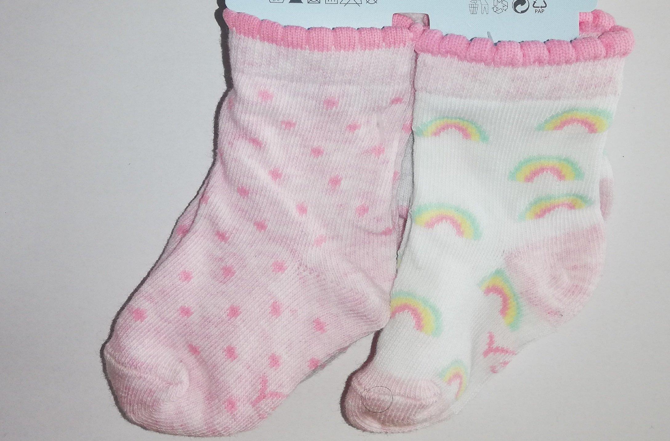 Ponožky kojenecké 3 páry v balení 6-9m barevné holka - zvìtšit obrázek
