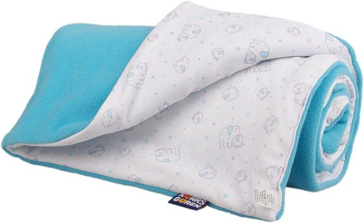 Zateplená dìtská deka tyrkysový sloník - zvìtšit obrázek