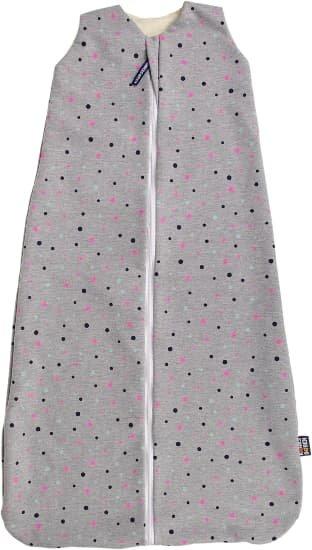 Celoroèní merino spací pytel 110 cm šedý s puntíky - zvìtšit obrázek