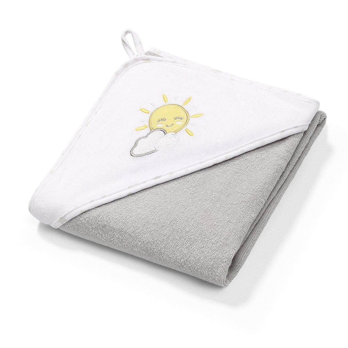Osuška s kapucí sluníèko FROTTE 100x100 cm šedá - zvìtšit obrázek