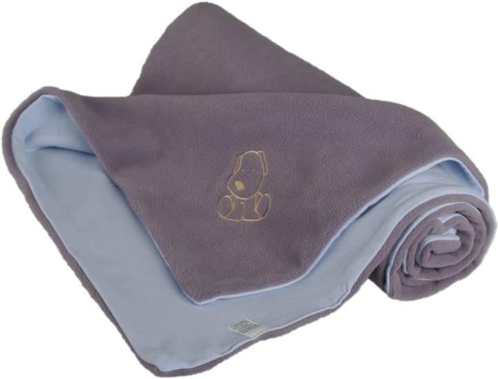 Dìtská deka s pejskem fleece bavlna 70x100 cm  šedo modrá - zvìtšit obrázek