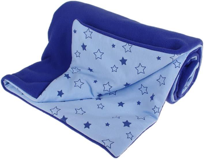 Zateplená dìtská deka 70x100 cm modré hvìzdièky - zvìtšit obrázek