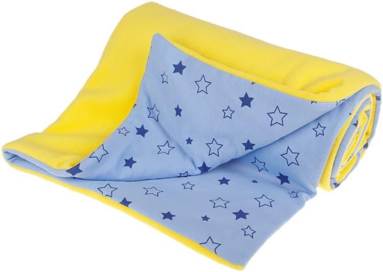 Zateplená dìtská deka 70x100 cm žlutá hvìdièky - zvìtšit obrázek