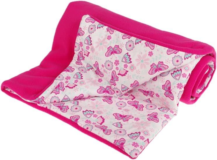 Zateplená dìtská deka 70x100 cm rùžové motýlci - zvìtšit obrázek