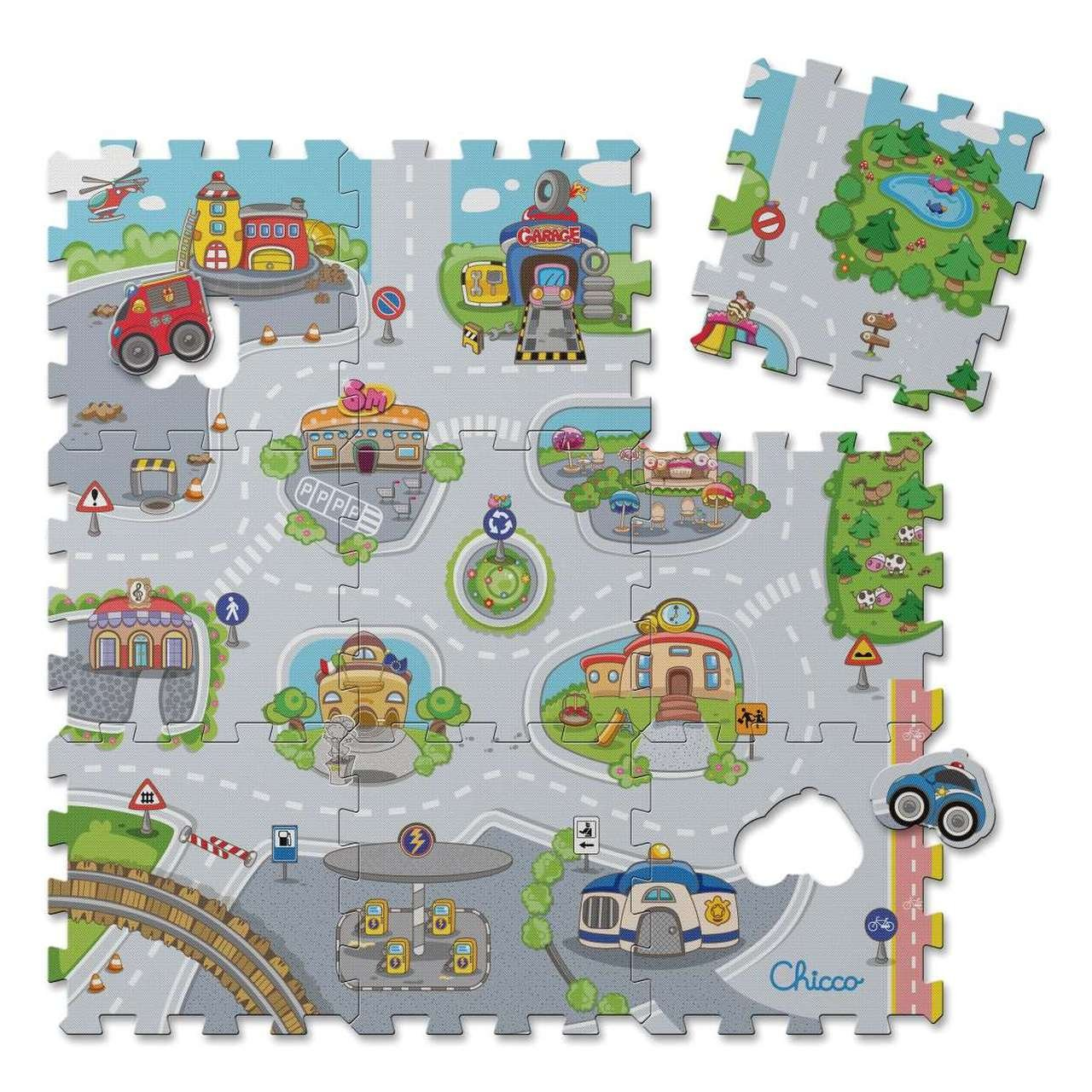 Pìnové puzzle mìsto 30x30 cm 9 ks - zvìtšit obrázek